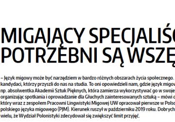 19 lutego 2020 r. – artykuł o FPJM